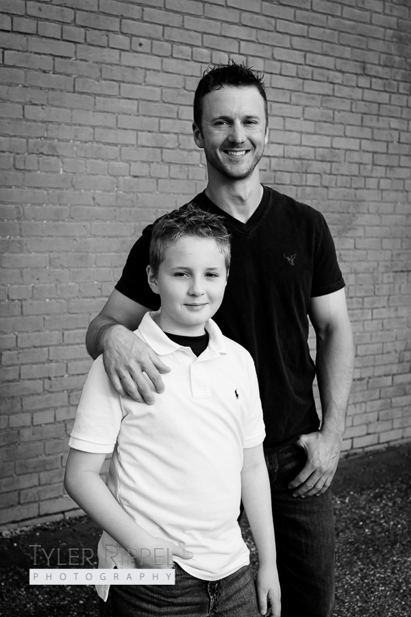Dover OH Family Photographer - Father and Son Pose